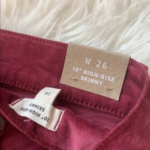 "Madewell Pants & Jumpsuits - 10"" High-Rise Skinny Jeans: Stretch Velvet Edition"